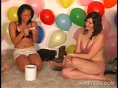 Hot chicks making out in truth or dare sex game