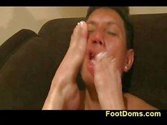 Femdom princess Andrea feet action