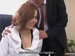Beautiful new office lady Yuna Hirose is tested by her new