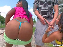 Hot exotic asses of Violet Vasquez and Egypt