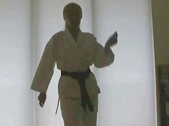 Elegant karate teacher