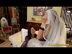 Bride is having lesbian sex