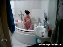 My Mum unaware of hidden cam in bathroom