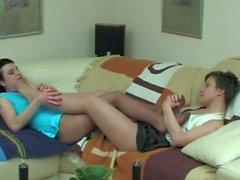 nylon feet lesbian