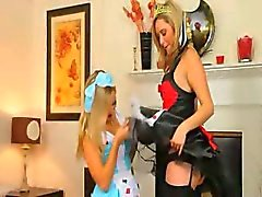 Two lezzie secretaries teasing