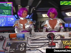 Busty Mature Aliens Deauxma & Brooke Tyler Have Space Sex!