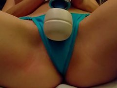 Squirting in my Blue Thong - Lydia Luxy