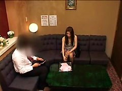 Striking Japanese beauty drops her clothes and a guy caress