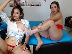 Jana Cova y Carmen Lesbianas Fetiche de Pies