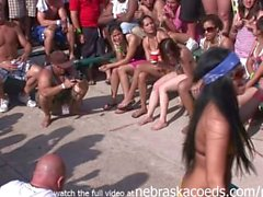 twerking on spring break bikini party girls
