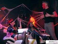 Jessica Jaymes & Daya Cavaliere festa di Halloween, grande cazzo, grande bottino