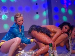 Wet lesbian party
