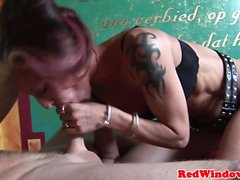 Dutch hooker pussylicked before plowed