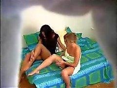 Lesbian Massage - Hidden Cam