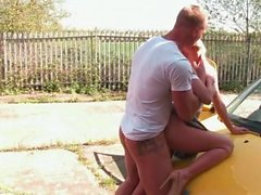 Blonde sweetie got her cunt fucked outdoors