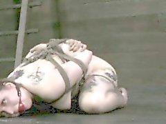 Prostituta a servidão de boca aberta gag arnês