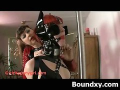 Wild Pervert Girl In Tempting BDSM Latex Sex