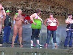 meninas grandes concurso de sábado no abate 2.014 algona iowa reunião do motociclista