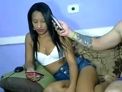 French ebony amateur hooker on webcam
