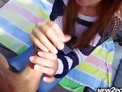 Her first porn video outdoors