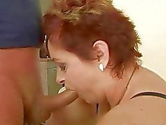 Fat grandma enjoys nasty hard sex