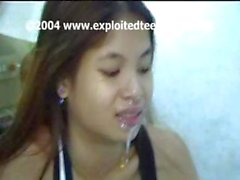 Amateur Filipino cutie Sarah gets hammered from behind and a facial