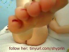 Fuß Mädchen Sauber Ass