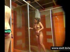 Spying Amateur girls in a public shower