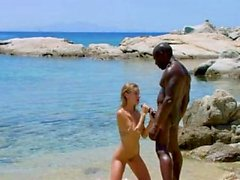 Pornstar peludo interracial e facial