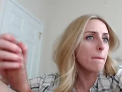 Deepthroat Blonde amazing skills 4