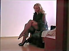 Woman changing hidden cam