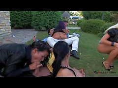 Mad Sex Party Gazebo Gobblers Pt HD; group, outdoor, hardcore, blowjob, blonde, pornstar, hd, 1080p,