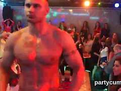 Kinky cuties get completely wild and naked at hardcore party