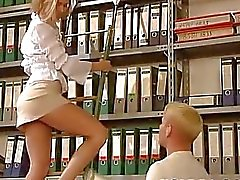 Cool Russian Blonde is fucked at the office