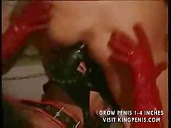One ravenous slut sits down on nasty guy`s dick while another sits on his face