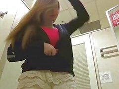 Amanda Love - Big Natural Breasts in changing room