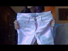 Janessa Brazil - Essayer de en Jeans