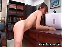 Hot and sexy asian secretary blows rigid part5