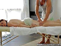 Beautiful Sheila is enjoying the sexy massage