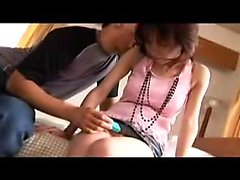 Skinny Asian gal gets licked and toyed and gives head befor