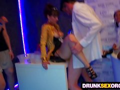 Shocking sex party full of boozed chicks