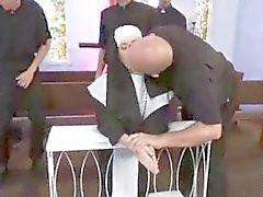 Catholic Nun Gangbanged by Priests