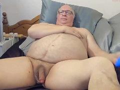 Papy cum sur webcam