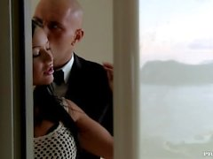 The Brazen Black Angelika et son petit ami baise Bien que Voyeurs Montre