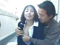 Japanin vuosikerta ulkona vaimo