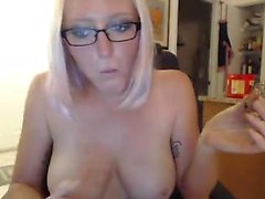 Blonde MILF pole-dancing and much more on livecam