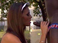 Black Gardener fucks Romanian Maid ( No Audio )