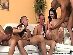 Hot and horny Visconti triplets bi-sexual fuck fest action!