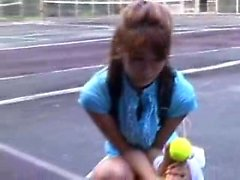 Tennis players take a break to suck dick and then play nake