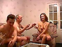 Gangbang with an old man and boy